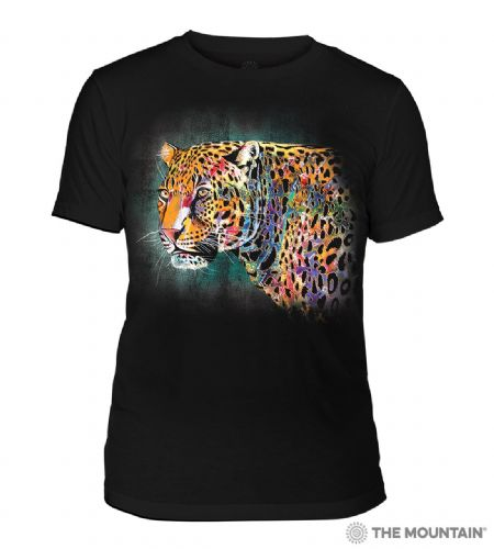 Black Painted Cheetah Tri-Blend T-shirt | The Mountain®